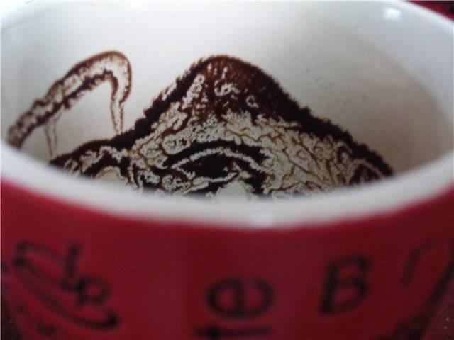 Голова лошади на кофейной гуще