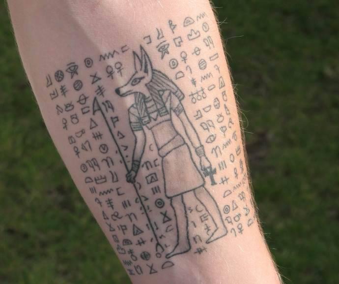 Египетские символы тату