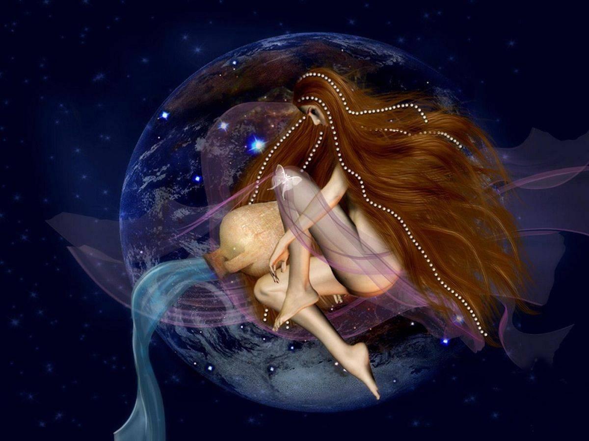 Месяцем ребенка, картинки водолей женщина