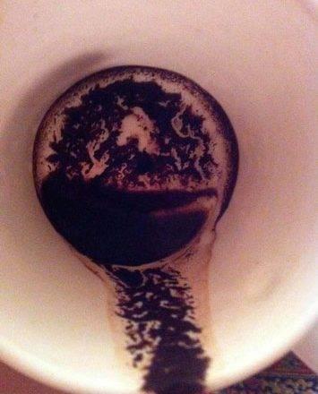 Гадание на кофейной гуще дракон