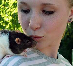 Девушка крыса