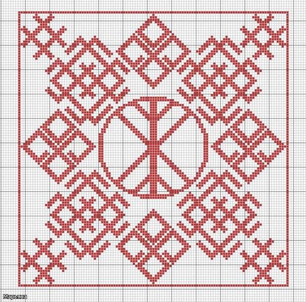 Обережная вышивка славян схемы и значение