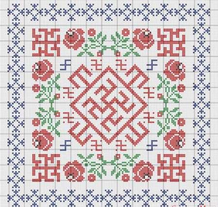 Вышивка крестом обереги для дома схемы