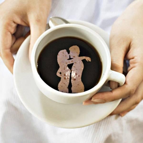 Буква м на кофейной гуще